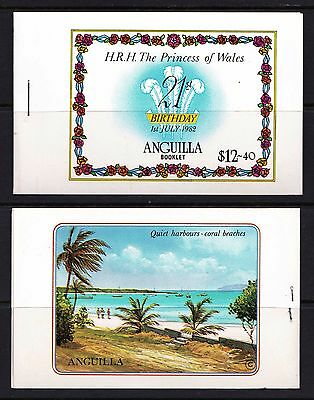 ANGUILLA 1982 Princess Diana's 21st Birthday - $12.40 Stamp Booklet