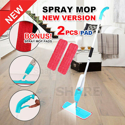 Spray Mop Microfibre Water Rod Flat Mop Floor Kitchen Bath Microfiber Cleaner AU