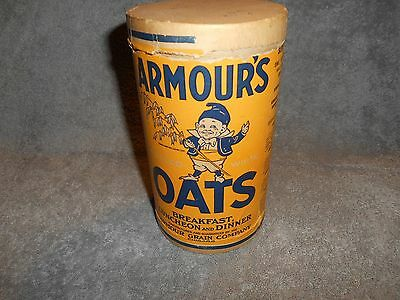 Vintage  - Armour's Oats - Carboard Container