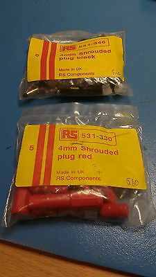 shrouded connectors (1 x bag of red and 1 X bag of black)