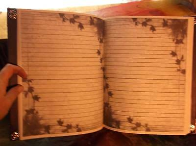 Custom Journal Book of Shadows / Mirrors Witchy Grimoire Pagan Witchcraft 9x11""