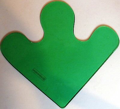 "ELLO LARGE ""SHAPED"" PANELS x 5. TRANSLUCENT GREEN.  UK DISPATCH"