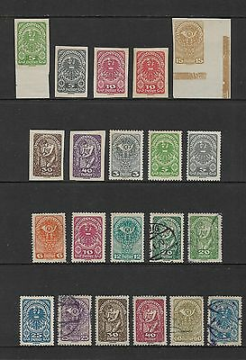 AUSTRIA - mixed collection, 1919 issue, perf & imperf