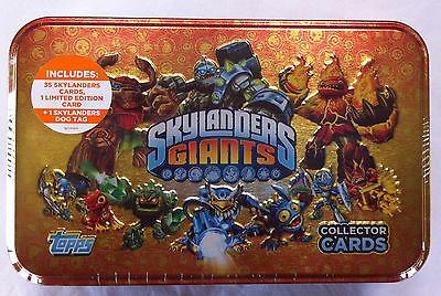 Topps Skylander Giants Collector Cards in a Tin