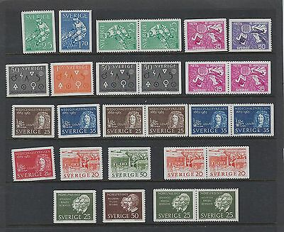 Sweden Year 1963 MNH With Pairs   Scott $ 24.95