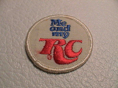 Me & My Rc Cola Soda Pop Beverage Advertising Small Hat Or Jacket Patch Used
