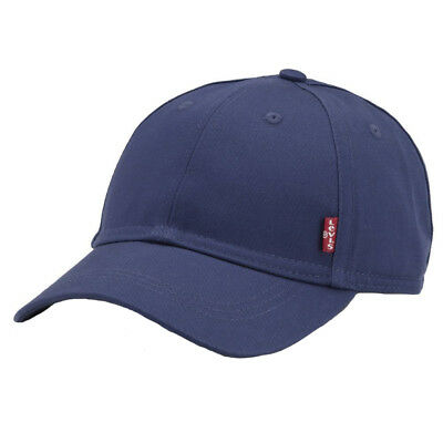Levis Red Tab Cotton Classic Baseball Cap Adjustable Strap At Back - Navy Blue