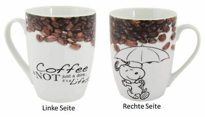 "Peanuts - Tasse Snoopy - ""Coffee is not just a drink...""  D.Händler"