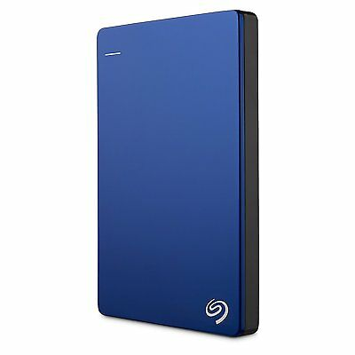 Seagate Backup Plus Slim 1TB Portable External Hard Drive USB 3.0/2.0 - Blue