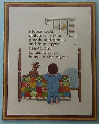 1978 Sunset Stitchery Inspirational Please God Deliver Me Crewel Embroidery Kit