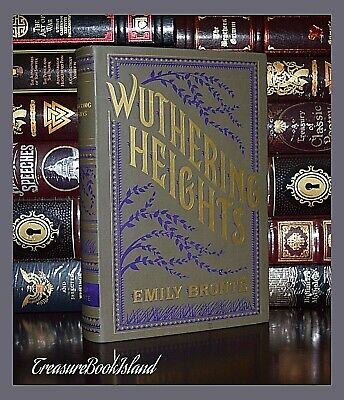 WUTHERING HEIGHTS By Emily Bronte Brand New Leather Bound Collectible Edition
