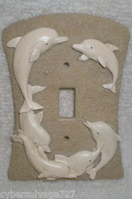 Dolphin Wall Switch Plate Outlet Cover Nautical Decoration Dolphin Theme