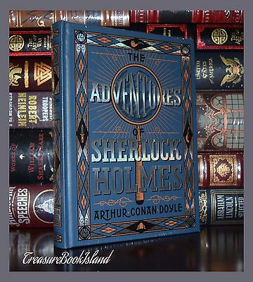 Adventures of Sherlock Holmes by C. Doyle New Sealed Leather Bound Collectible