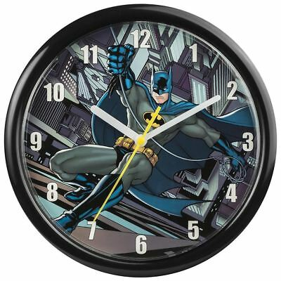 Batman DC Comics Character Black Round Hanging Childrens Kids Bedroom Wall Clock