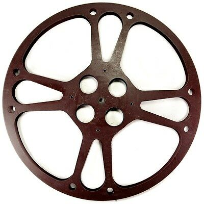 Vintage 1600ft Large 16mm Brown Metal Movie Film Reel Spool