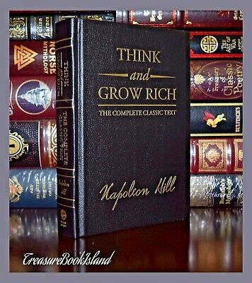 Think Grow Rich by Napoleon Hill New Sealed Leather Bound Deluxe Collectible