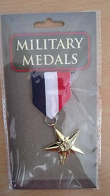Fake Combat Star Medal Fancy Dress Military Army Navy RAF Paintball Party Toy