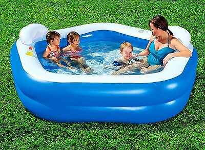 Inflatable Pool Lounger Family Recliner Float Garden Swim Paddling Adults Kids