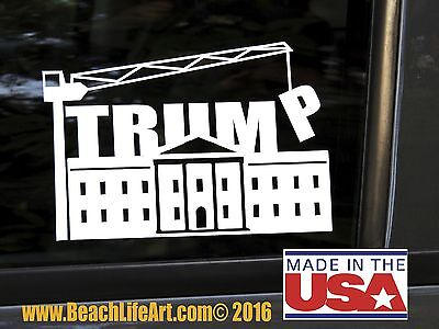 Donald Trump Vinyl Sticker/Decal - White House- Make America Great-  car,window