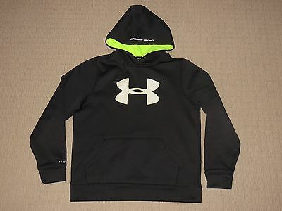 Boys Under Armour Storm Loose Hoodie Sweatshirt Pullover Youth Large YLG Black