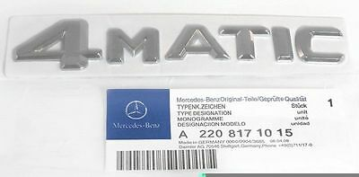 Mercedes Benz 4MATIC Trunk or Side Emblem Badge Logo 4 MATIC Chrome