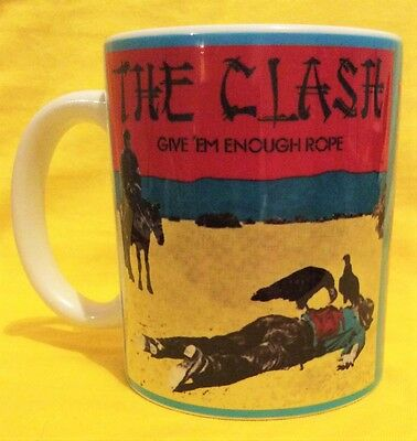 The Clash,give 'em Enough Rope 1978 - Album  Cover On A Mug.