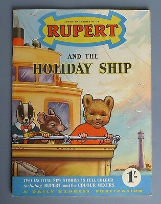 RUPERT AND THE HOLIDAY SHIP Adventure Series No. 22 - very good condition indeed