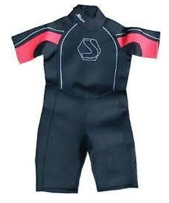 RED/Black BOYS GIRLS CHILDS WETSUIT SHORTY AGE 1-2 YR CHILDRENS KIDS SHORTIE