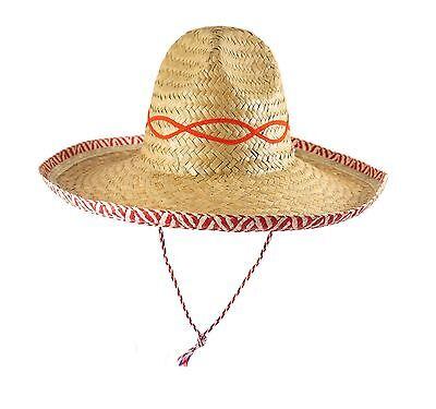 Mexican straw Sombrero Hat - 42 cm - Fancy Dress Party Accessories
