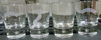 Baileys Irish Cream Liqueur 4 Glasses (Set of 2 Included) Bubble in Thick Base