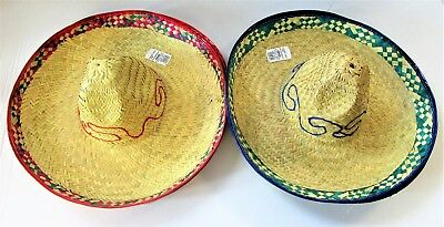 Pack of 6 Mexican straw Sombrero Hat - 42 cm - Fancy Dress Party Accessories