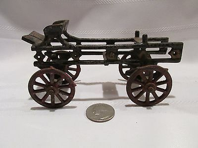 Vintage 1920s DENT? CAST IRON HORSE DRAWN LADDER WAGON Carriage Farm