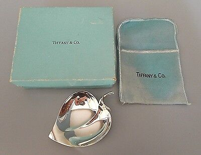 Boxed contemporary solid silver bonbon dish, Tiffany & Co.