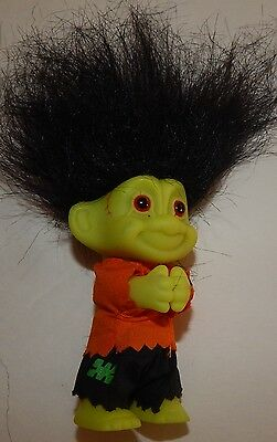 "Russ Frankenstein Pinchy Halloween troll doll  3"" tall New old stock"