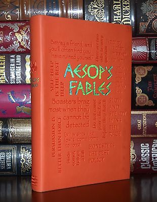 Aesop's Fables Illustrated Unabridged Deluxe Soft Leather Feel Edition