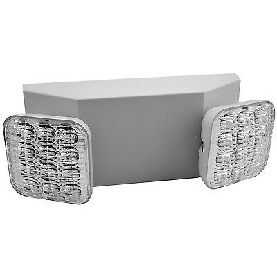 2 Head LED Emergency Light with Dependable Battery Back-up (White Body)