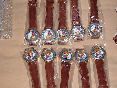 Job lot of 10 Novelty Watches Leather strap NEW Pet Dog lover funny Free Ship!