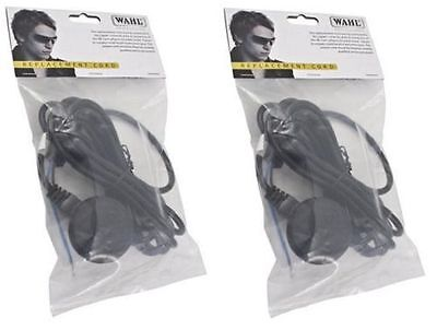 2 x WAHL REPLACEMENT LEAD / WIRE / CABLE / CORD - FITS BALDING, SUPER TAPER ETC