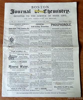 Boston Journal Of Chemistry February 1879 Homeopathy Medical Herb Recipes Good