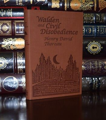 Walden & Civil Disobedience H.D. Thoreau Unabridged Deluxe Soft Leather Feel Ed