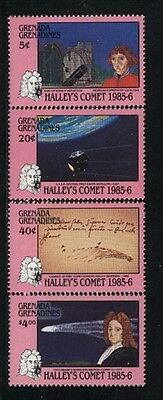 Grenada-Grenadines MNH Sc 744-47 Haley Comet Value $ 7.80  US $$