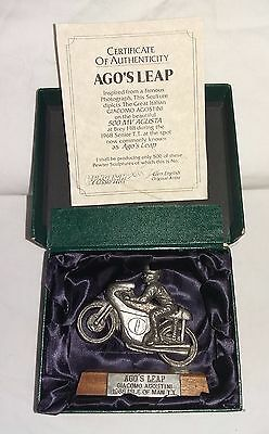 Glen English Pewter Motorcycle Sculpture of Giacomo Agostini - number 7 of 500
