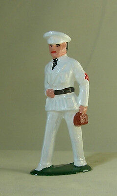Naval Doctor in white with bag, Standard Gauge train figure, New/Reproduction