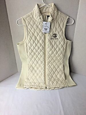 Straight Down Women's Pebble Beach Quilted Zippered Vest Sz M