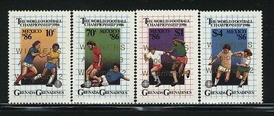 Grenada-Grenadines MNH Sc 772-75 World Soccer Cup Value $ 8.00 US $$