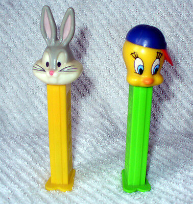 Pez Tweety Bird W/baseball Hat & Bugs Bunny Candy Dispenser Hungary