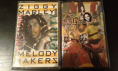 ZIGGY MARLEY 2XCASSETTE TAPES Conscious Party/One Bright Day REGGAE Bob Marley