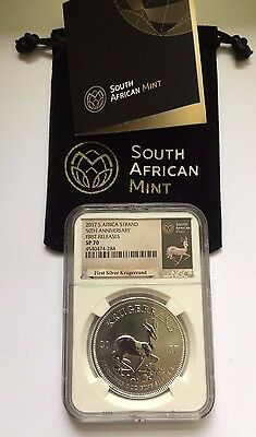 2017 NGC SP70 FIRST RELEASES Silver Krugerrand S. African 50th Ann Privy 1oz Unc