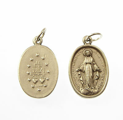 Catholic Miraculous Virgin Mary image metal medal rosary beads pendant 2cm