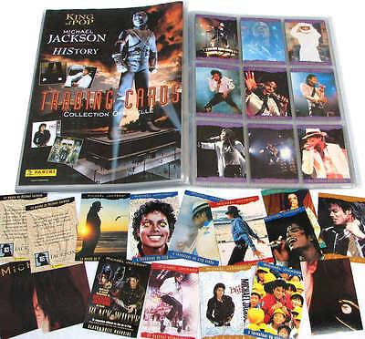 Michael Jackson Cartes Collection PANINI HISTORY Trading Cards COMPLETE set 1996